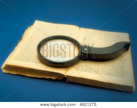 Magnifier At The Book