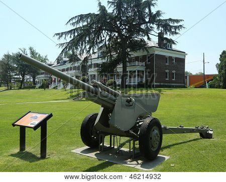 3-inch anti-tank gun M5 at Fort Hamilton US Army base in Brooklyn