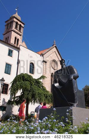 The monument to the Croatian King Petar Kresimir IV (1058-1074)