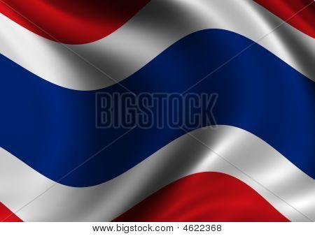 Thailand Flag Of - Close Up