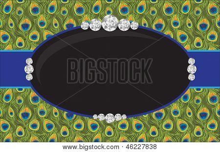 Peacock Diamond Jewelry Salon Poster