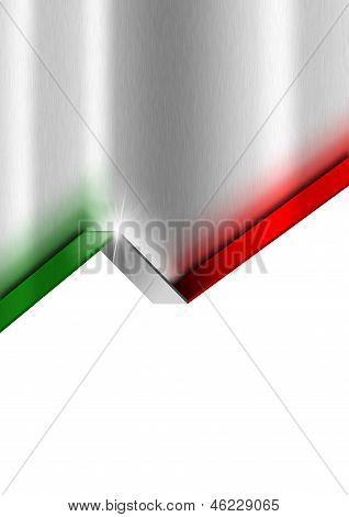 Metal Background With Italian Flag
