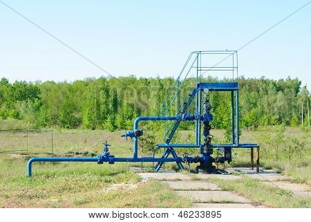 wellhead in the oil and gas industry. poster