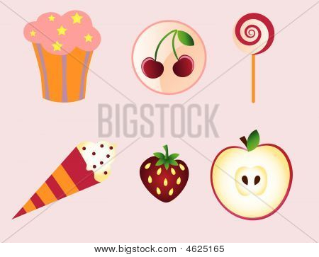birthday sweet desert icons