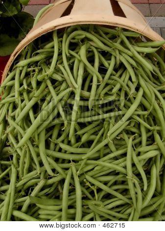 Green Beans At Farmer's Market