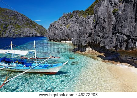 Tropical Beach, South China sehen, El Nido, Philippinen