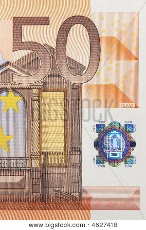 50 Euro Note Macro