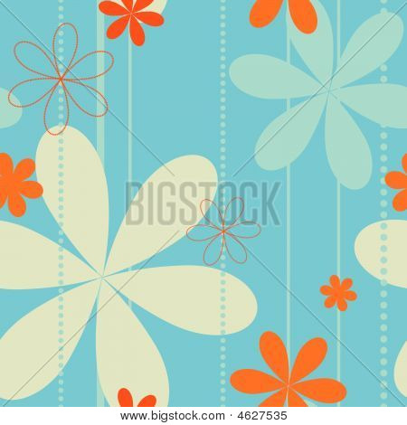 Seamless Retro Floral Background