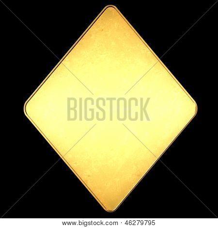 Diamond Poker Card Symbol Gold