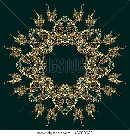 Ornate vector dragon patterns