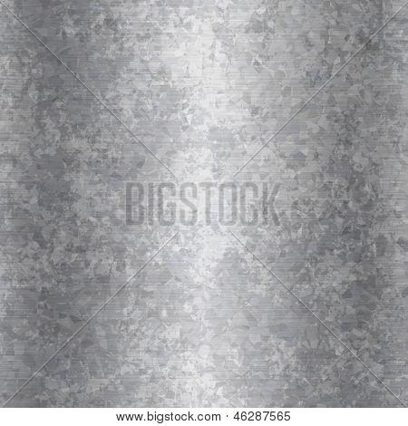 Plano de fundo ou a textura do grunge placa de aço galvanizada