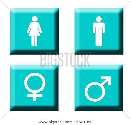 Gender Symbol Buttons