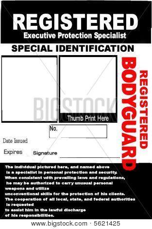 Bodyguard Id Badge   Security