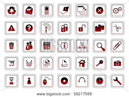 web icon vector set