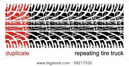 repeating tire track