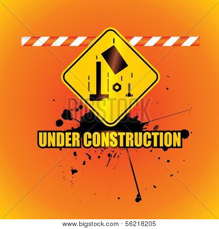 under construction background poster