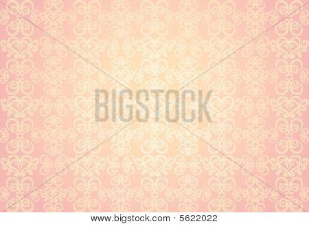 Pink Gold Ornamental Pattern