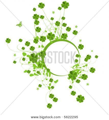 Banner with clover leaves