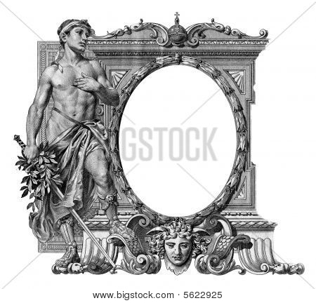 Old Frame With A Man