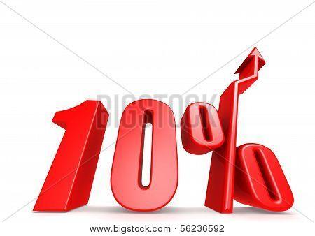 Up 10 percent