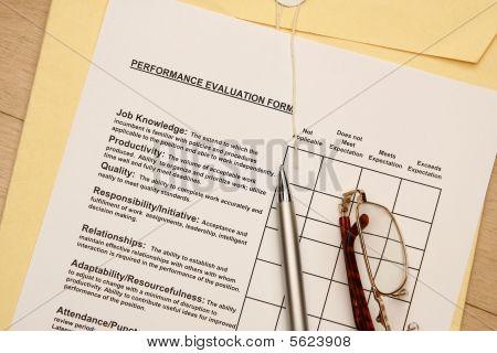 Avaliações de desempenho do empregado