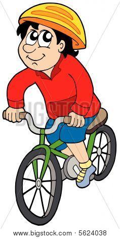 Cartoon cyclist