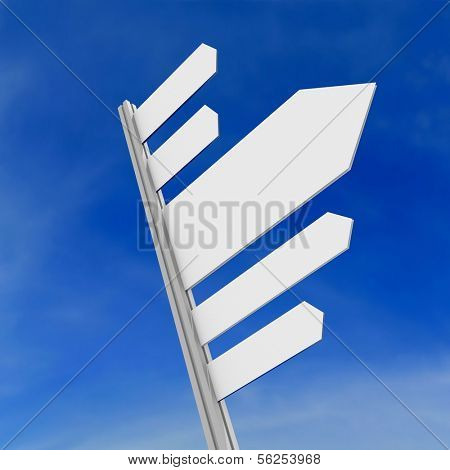 Signpost. 3d illustration