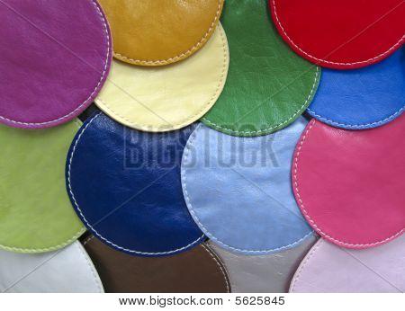Cirular Pieces Of Leather