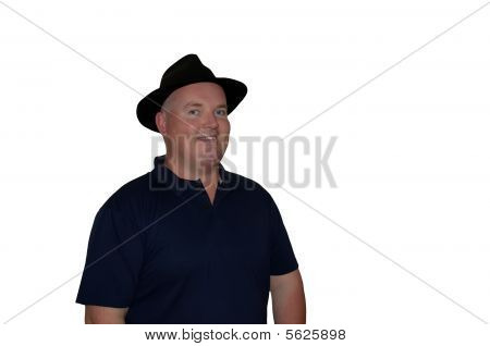 Photo Middle Age Overweight Fat Male Isolated