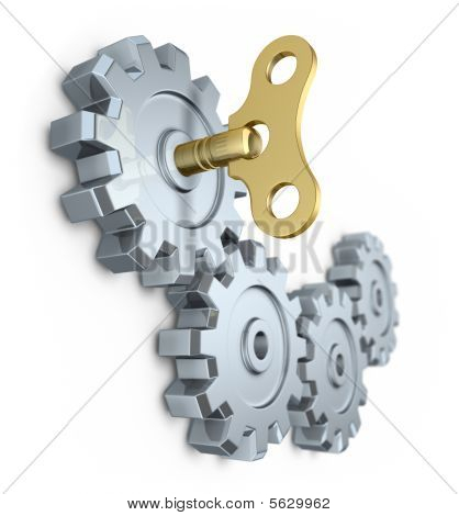 Clockwork key