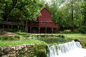 Hodgson Mill located in Ozark County Missouri. poster