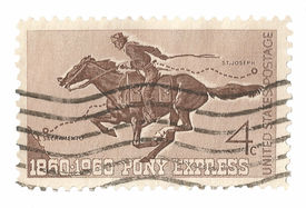 United States Stamp Pony Express Rider
