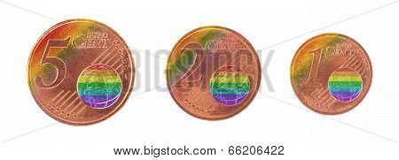 Money Concept - 1, 2 And 5 Eurocent