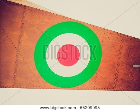 Retro Look Italian Air Force Flag
