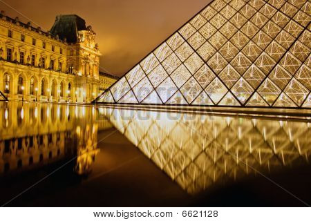 Reflection Of The Louvre Palais