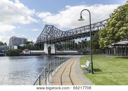 Brisbane Story Bridge from Captain Burke Park