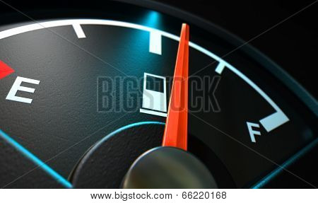 Gas Gage Illuminated Half