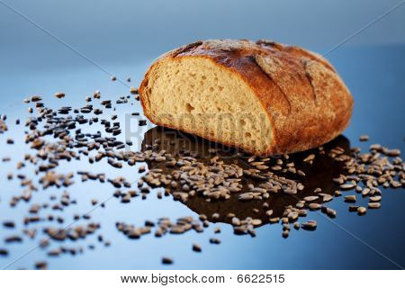 bread and sunflower seeds