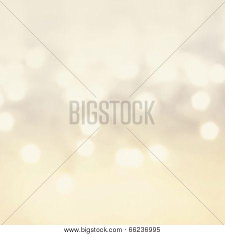 Defocused Gold Bokeh Light Vintage Background.  Christmas Background.