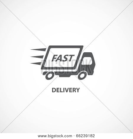 Delivery icon silhouette