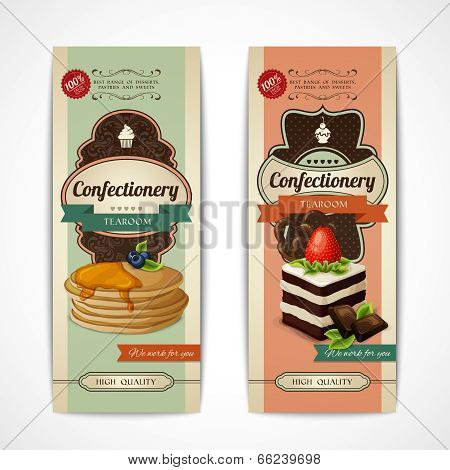 Sweets retro banners vertical