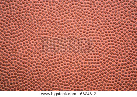 Closeup of the leather texture on the outside of a football. poster