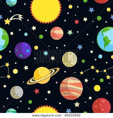 Space seamless pattern