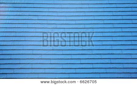Blue shingles pattern