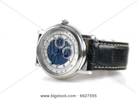 Wrist Watch Isolated on White Background
