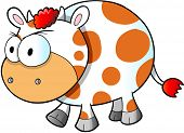 Mad Angry Cow Vector Illustration Art poster