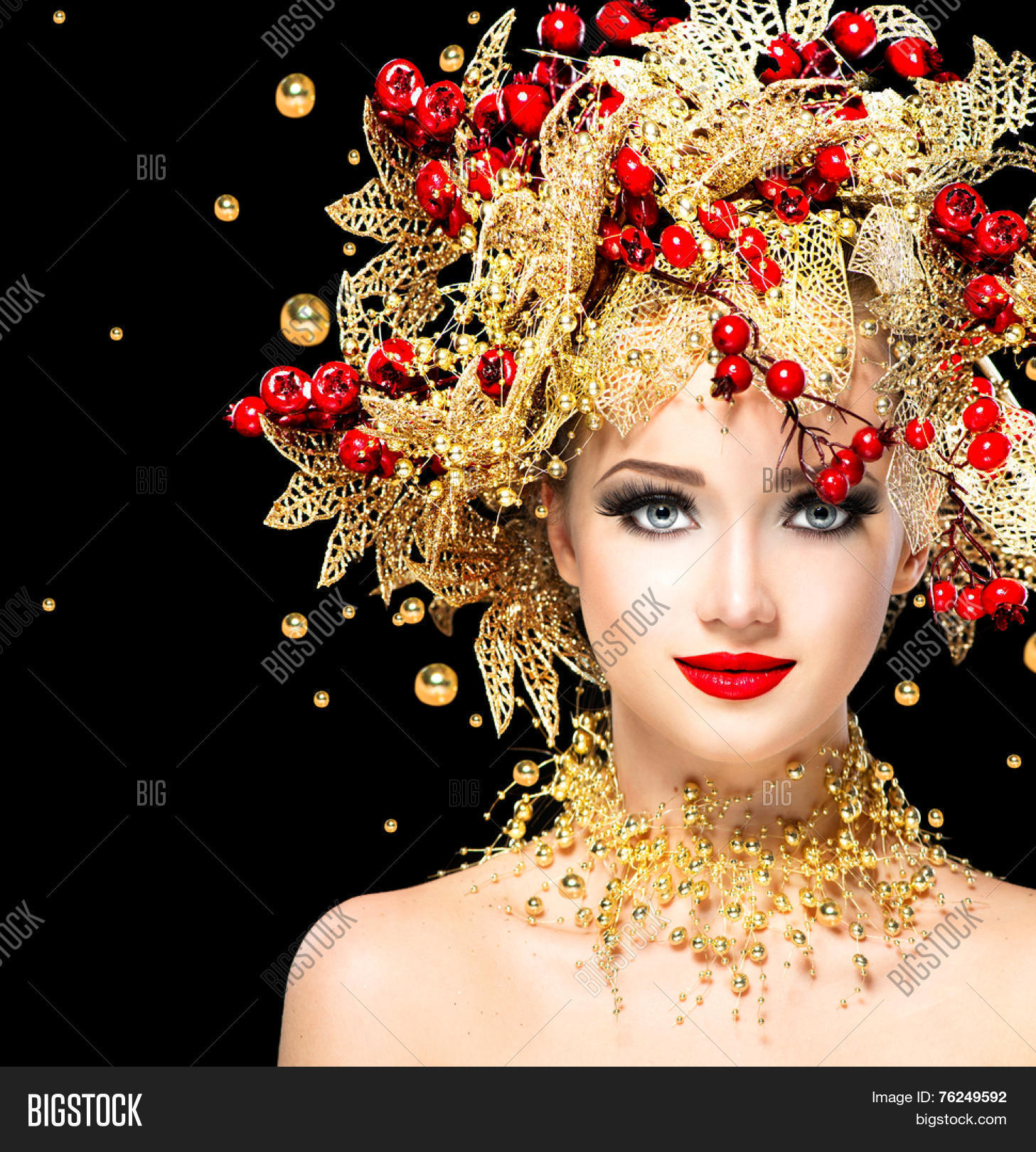 Christmas Hairstyles For Black Girls.Christmas Winter Image Photo Free Trial Bigstock