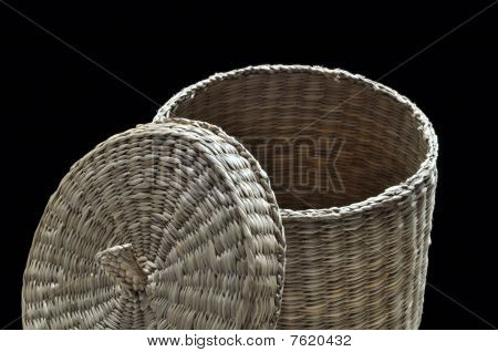 Basket cover widely opened