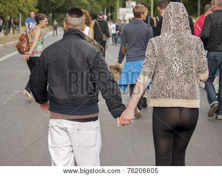Young Couple, During Christopher Street Day Parade