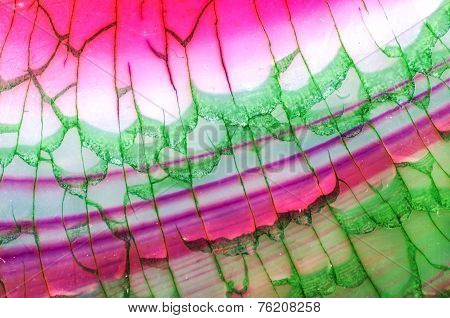 Pink Green Dragon Vein Agate Pattern